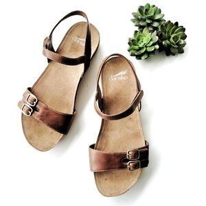 Dansko Rebekah Tan Leather Sandal size 39